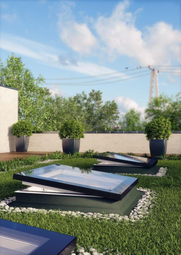 FAKRO flat roof window - Type F