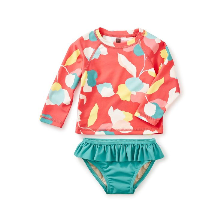 Passionfruit Baby Rash Guard and Bottoms Swimsuit Set - Tea Collection