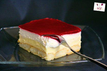 Kuchen ohne Backen - Himbeer-Puddingcreme Schnitten / Kolač bez pečenja…