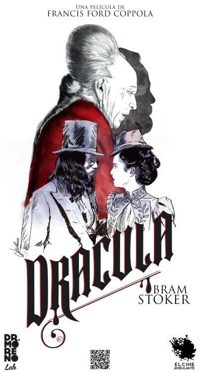 """""""He cruzado océanos de tiempo para encontrarte""""  """"Dracula"""" de Bram Stoker  Francis Ford Coppla (1992)  Cartel Realizado en colaboración con """"El Cine Ambulante""""  por Dr. Moreno lab"""