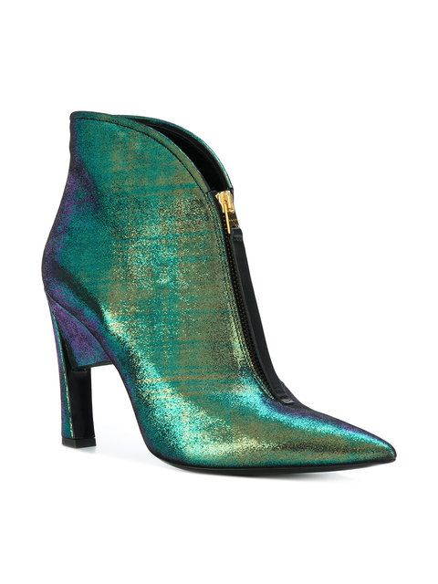 Marni zipped pointed ankle boots