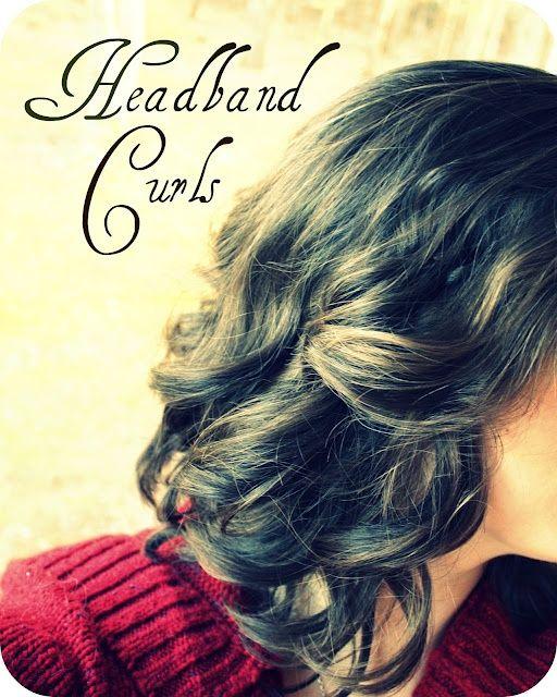 Headband curls: Headbands Curls, It Work, Curls No Heat, Hair Style, Curls Irons, Elastic Headbands, No Heat Curls, Curly Hair, No Heat Headbands