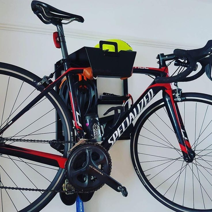 The Smart Way to Hang your Bike and Cycling Gear on the Wall, Like Mark    Steel, Carbon, Sloping, Oversized     #bikestorage #velo #specialized #Iamspezialized #bikeshelf #cycling #singlespeed #cyclinglife #interiordesign #decor #artivelo #bikedock #wallmount #design #productdesign #fixie #rapha #roadbike #triathlon #igerscycling #instacycle #instabike #cyclingshots #cyclingphotos #cyclo #baaw #bicicleta #bikeshop #stravacycling