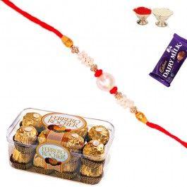 Send #Rakhi to #India with 16 Pc #Ferrero Rocher and Rakhi from http://www.rakhistoreonline.com/rakhi-with-chocolates/16-pc-ferrero-rocher-with-rakhi.html