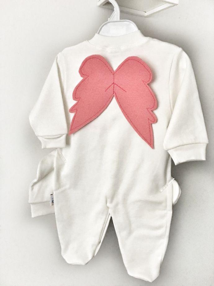 Kanatlı bebek tulumu Bebek tulumu seti sizin için özelleştiriyoruz..Kız ve erkek bebek için.... 376929