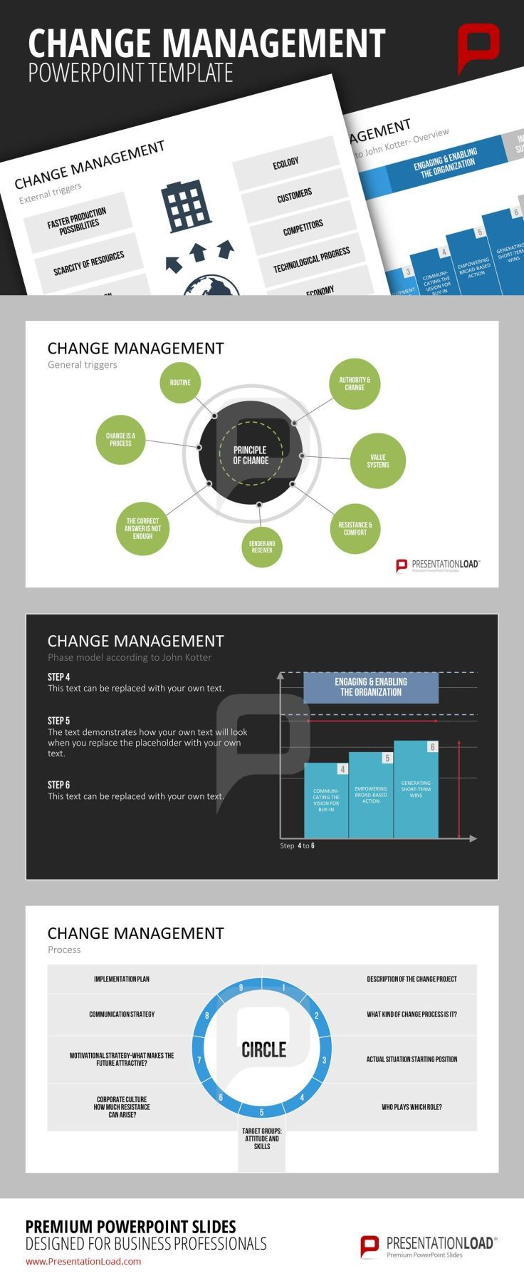19 best change management powerpoint templates images on change management powerpoint template the extensive change management powerpoint set to successfully plan and implement change processes within your toneelgroepblik Choice Image