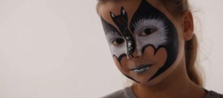 Maquillage Chauve Souris, un  Tutoriel maquillage pour enfant super facile pour halloween