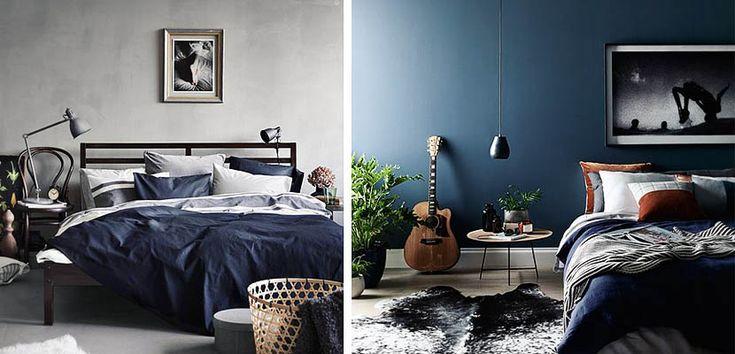 El azul es un color muy popular a la hora de decorar dormitorios masculinos. ¿Sabes cómo y donde utilizarlo? Te lo mostramos.