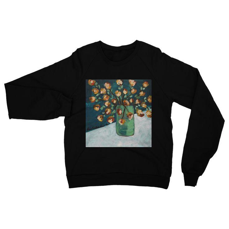 """Orange Spray"" Heavy Blend Crew Neck Sweatshirt"