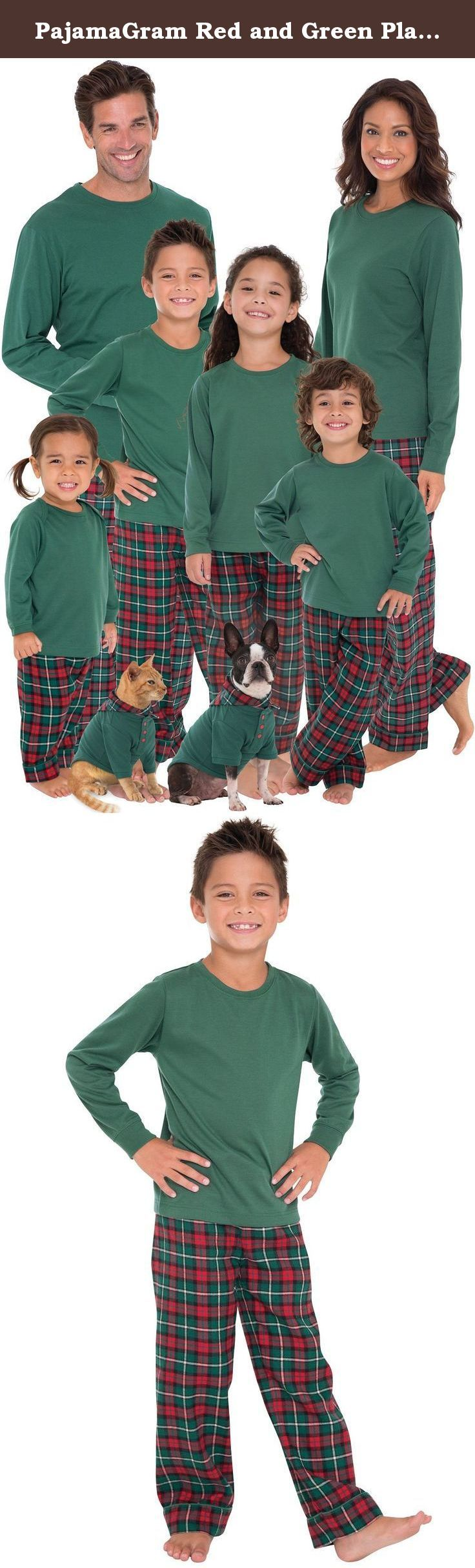 PajamaGram Red and Green Plaid Matching Family Christmas Pajamas Green Women 's Large / 12-14. Gear up for a Christmas they'll remember forever with the PajamaGram Red & Green Plaid Matching Family Christmas Pajamas. Every member of the family will get into the holiday spirit with a set of fun and festive plaid pajamas featuring red and green plaid pants and a long-sleeved evergreen crew neck top. These pajamas are made for long-lasting quality so you can sport them year after year. Each...