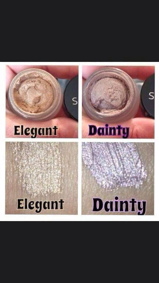 Gorgeous cream shadows that are light and fluffy...like a mousse!! They glide on sooo smooth and don't crease and check out that beautiful shimmer!!