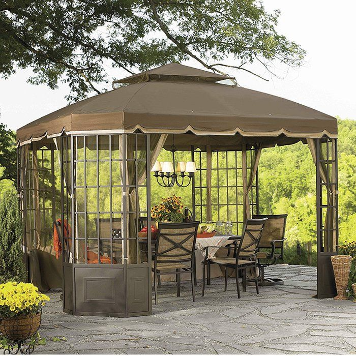 Replacement Canopy For Go Bay Window Gazebo Canopy Outdoor Backyard Canopy Outdoor Gazebos