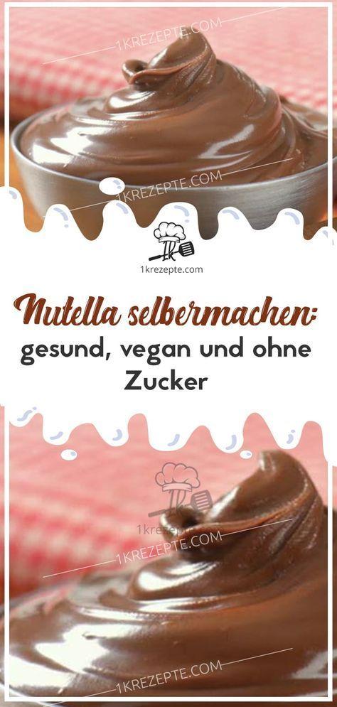 Nutella selbermachen: gesund, vegan und ohne Zucker
