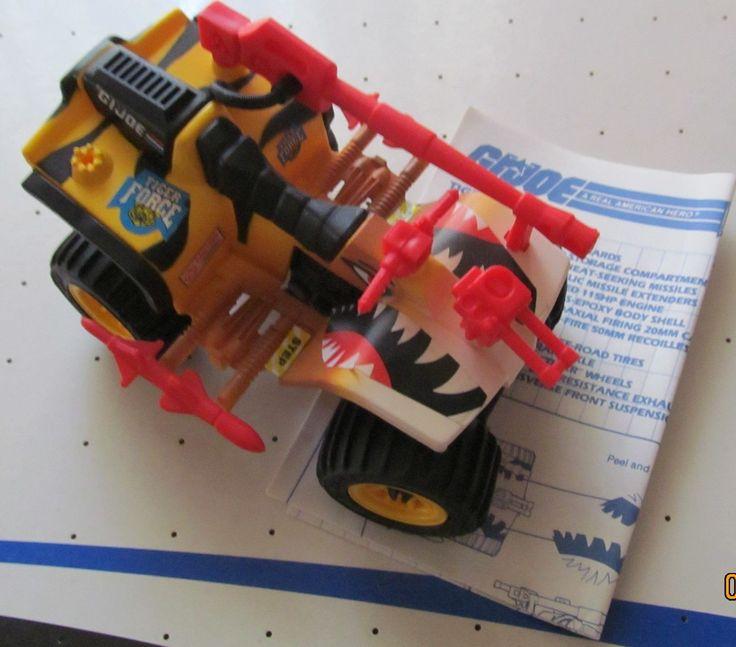 Vintage Tiger Force GI Joe 1988 ATV Vehicle TIGER PAW 100%  W/ Blueprints