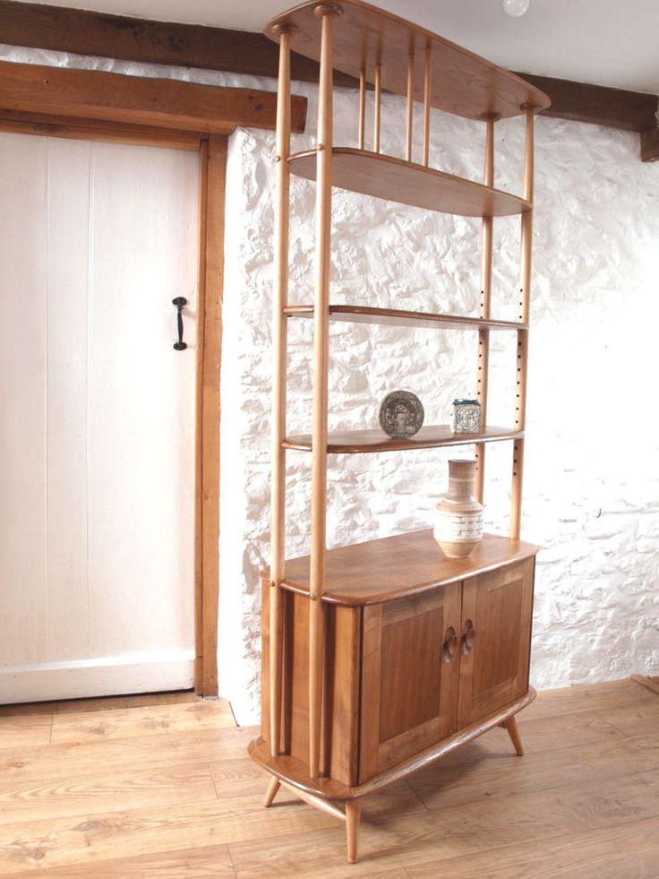 "Ercol Elm & Beech ""Giraffe"" room divider -shelving/Librenza no. 363 .Del | Home, Furniture & DIY, Furniture, Bookcases, Shelving & Storage | eBay!"