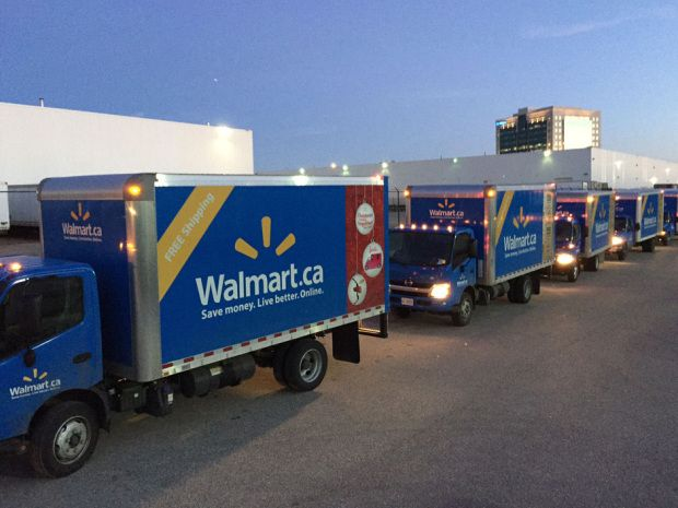Wal-Mart Stores Inc scaled back free shipping in Canada on April 2.
