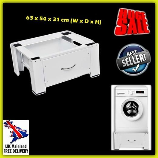 Washing Machine Pedestal Stand Metal Laundry Dryer Storage Drawer Floor Raised