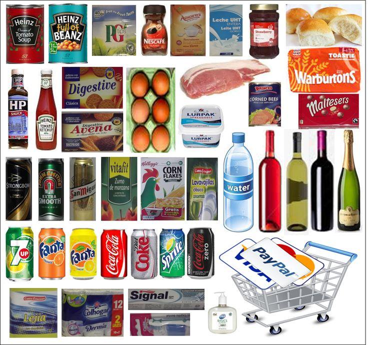Diverse mat/middag/varer levert på døra.
