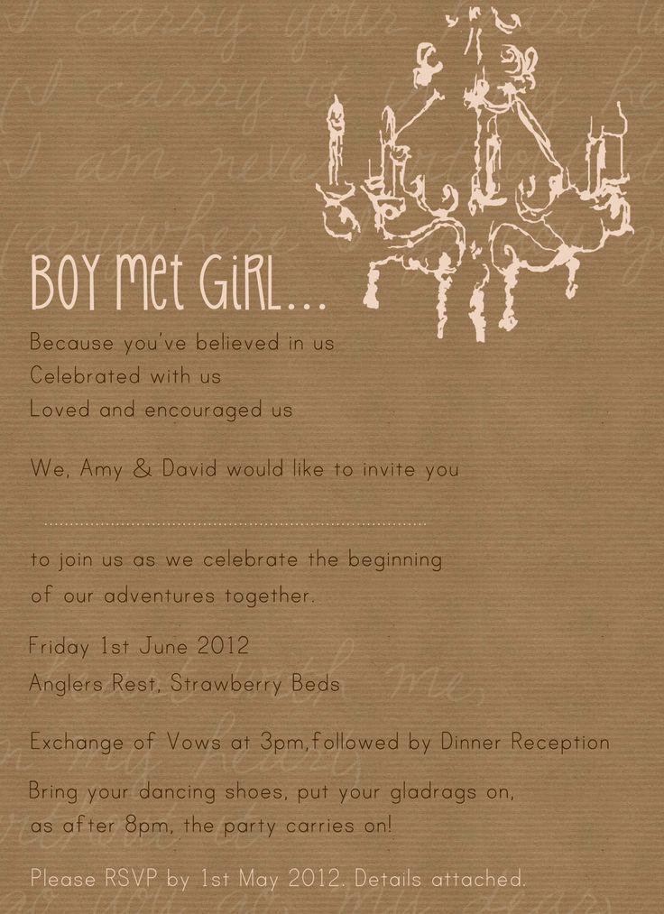 Wedding invite...Amy & David, June 2012 (c)Elizabeth Ryman for www.cinnamontoastdesigns.com