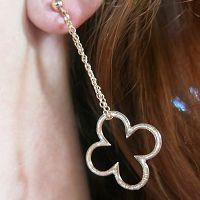 Boucles : Boucles d'oreilles chaîne Trèfle Seventies Brin d'Amour