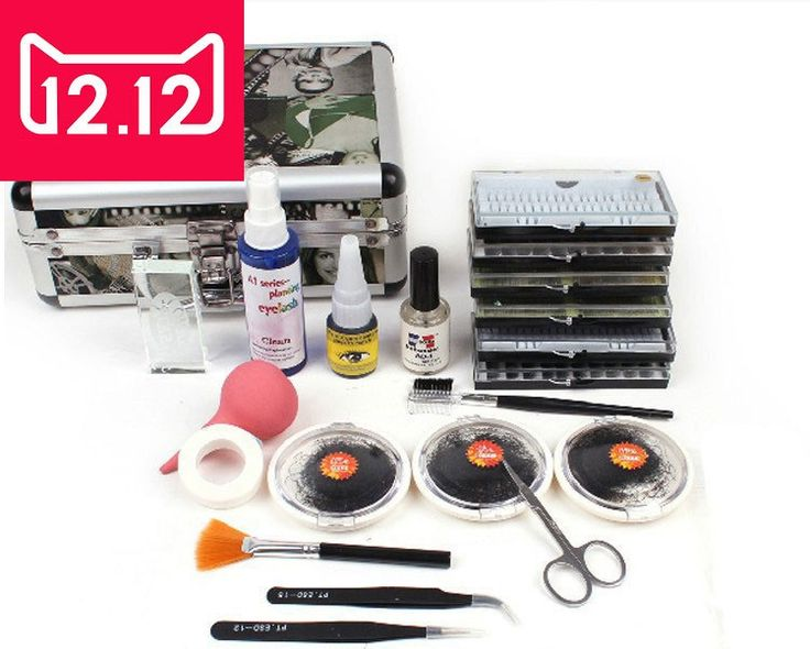 42.75$  Buy here - http://alinj4.shopchina.info/go.php?t=32733871579 - E-03New False Double Layer Beauty Grafting Eyelash Extension Kit Full Set with Silver Case for Beauty Salon and Makeup Artists  #aliexpresschina