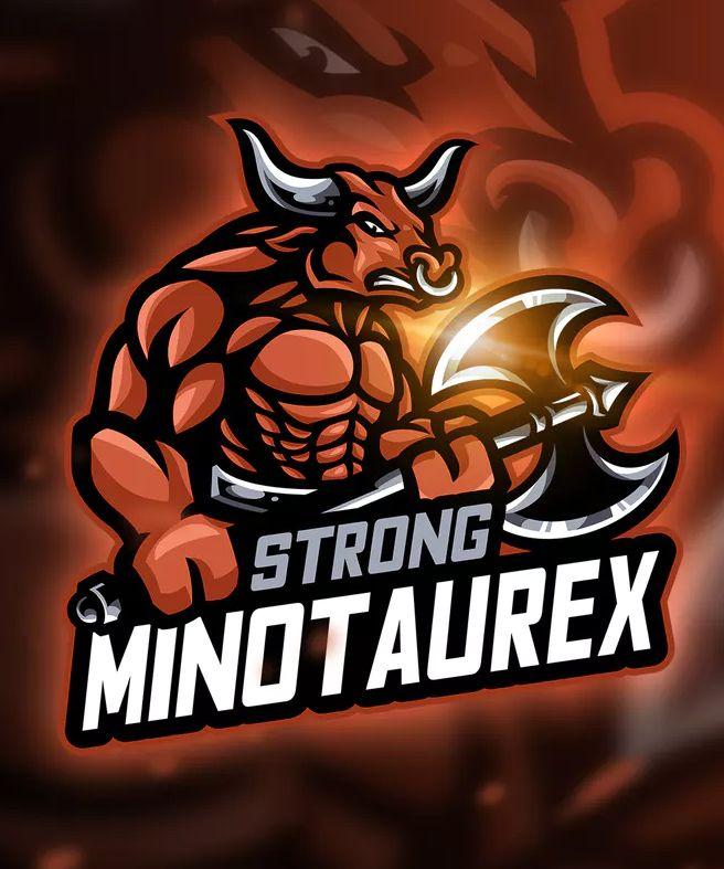Minotaur - Mascot & Esport Logo Template AI, EPS  Download | Logo