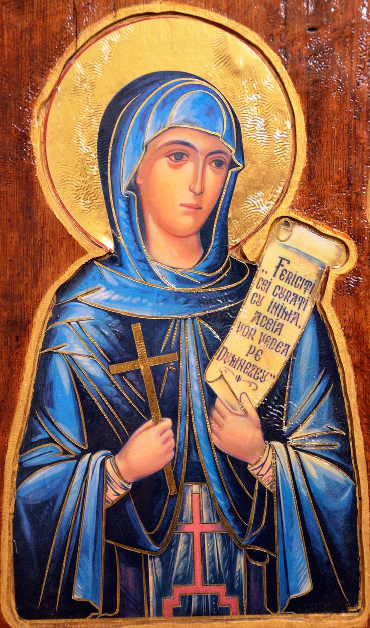 """When Saint Paraskeva the New (11th cent Serbia) heard the Lord's teaching, """"If any man will come after Me, let him deny himself,"""" she gave all her clothes to the poor. She became a nun at 15 and lived in a desert for 10 years, until an angel told her to return home. She died at age 27. Many miracles occurred near her grave, and her relics were uncovered incorrupt. Since the 17th century they reside in the Three Hierarchs Cathedral in Iasi, Romania. (Oct 14)"""