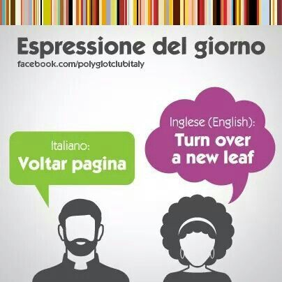 Learning Italian Language ~ Turn over a new leaf