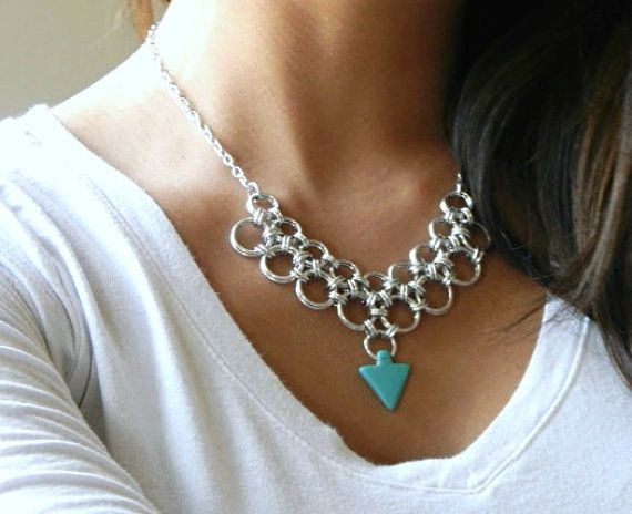 Japanese Chainmaille Necklace by ChainMettle