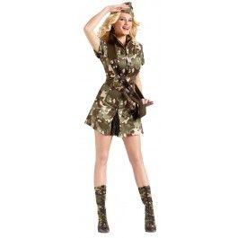 Major Lee Tanked Women's Costume : Army Dress | Fun Beer Drinking Costume