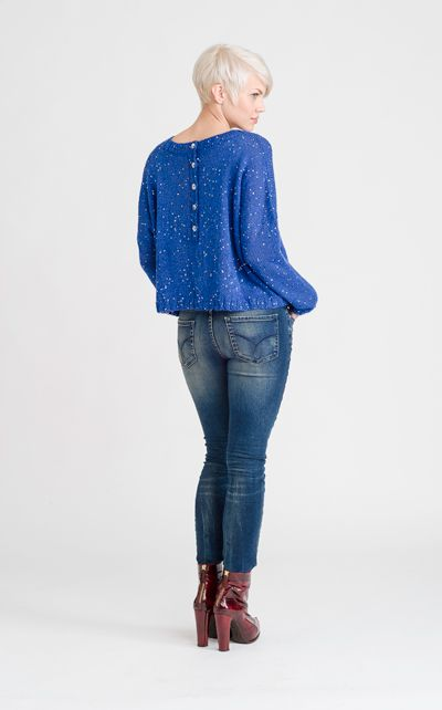 Lovely shining sweater, coming up in Novita syksy 2013!