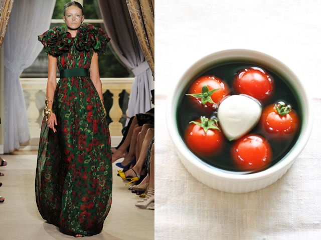 GIAMBATTISTA VALLI HAUTE COUTURE / NETTLES IN THE FORM OF SOUP