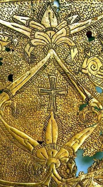Tiszabezdédi tarsolylemez - symbols of the Altai Turkish uighur