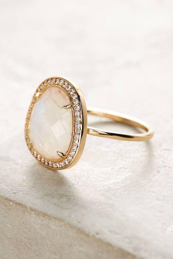 Melanie Auld Adella Stone Halo Ring