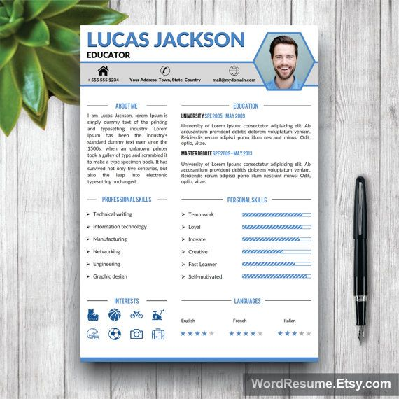35 best CV / Resume Templates in MS Word images on Pinterest Cover
