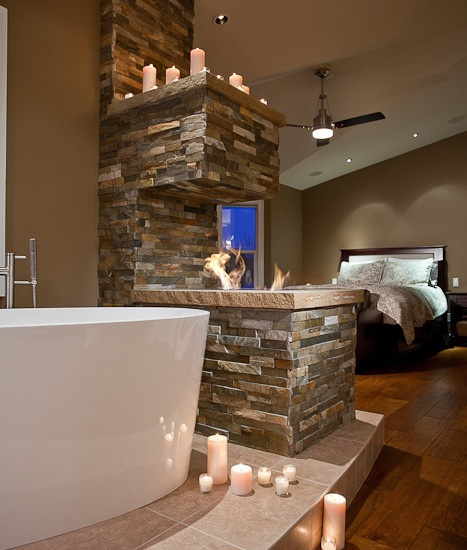 136 best Bathroom Fireplaces images on Pinterest Dream bathrooms