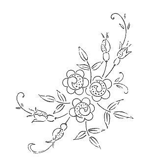flowers embroidery or redwork