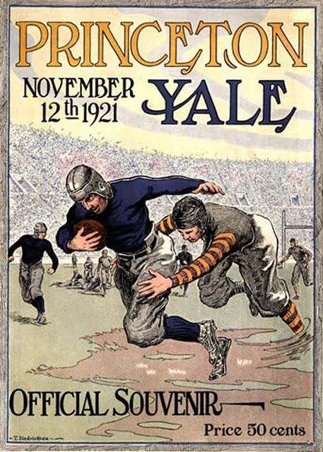 Princeton vs. Yale; we have so many of these vintage football programs!! so cool xo