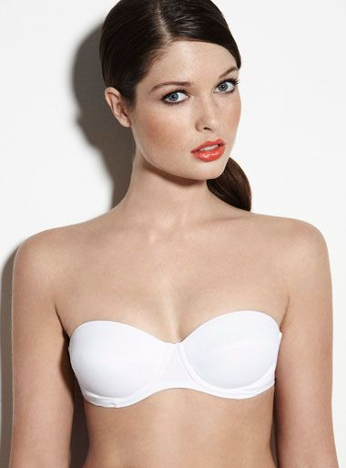 Martinique Multiway Bikini Top - White | Boux Avenue