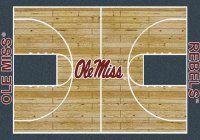 Mississippi Ole Miss Basketball Home Court Nylon Area Rug