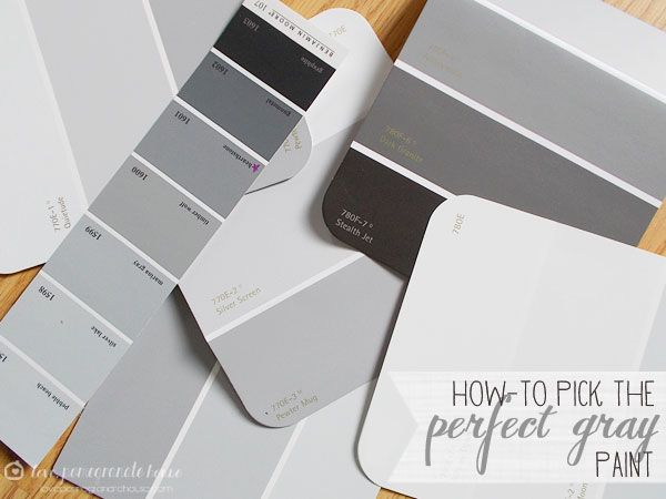How-to Pick the Perfect Gray Paint  I am re pinning this because every color goes with grey, you just have to find the right grey, also grey goes amazing with white trim and any other accent color you want