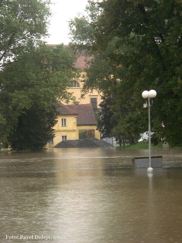 2002, Stod, povodeň, Radbuza, foto Pavel Dolejš.