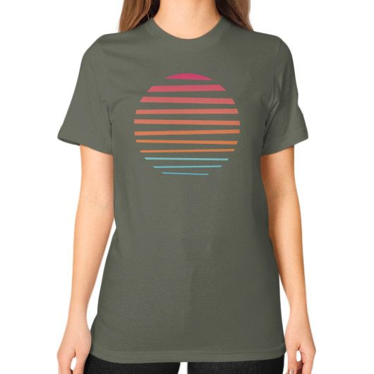 Sun Unisex T-Shirt (on woman)