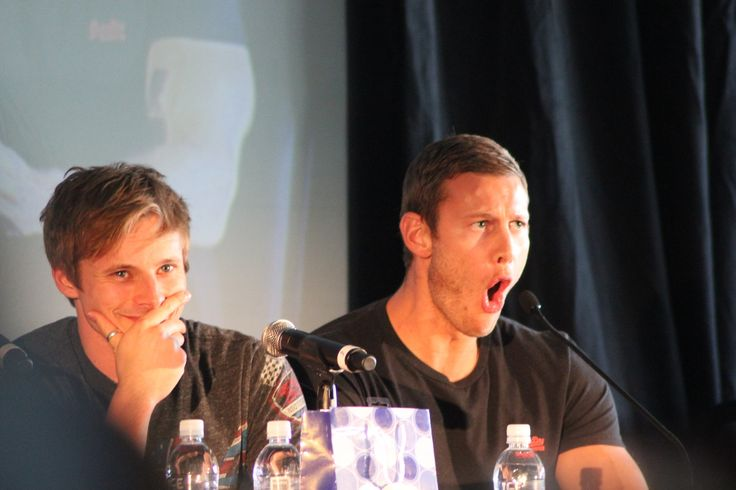 Tom giving his impersonation of Colin Morgan when he had to call Kilgharrah on Merlin. hahaha!