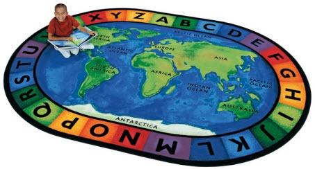 Around the World Classroom Rug