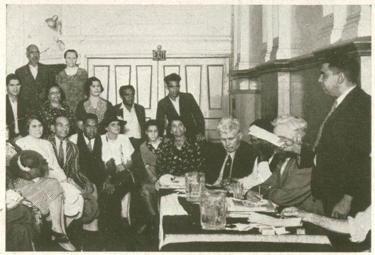 Image 2. Section of Aboriginal meeting in Australian Hall, Sydney.  From the collections of the State Library of NSW.