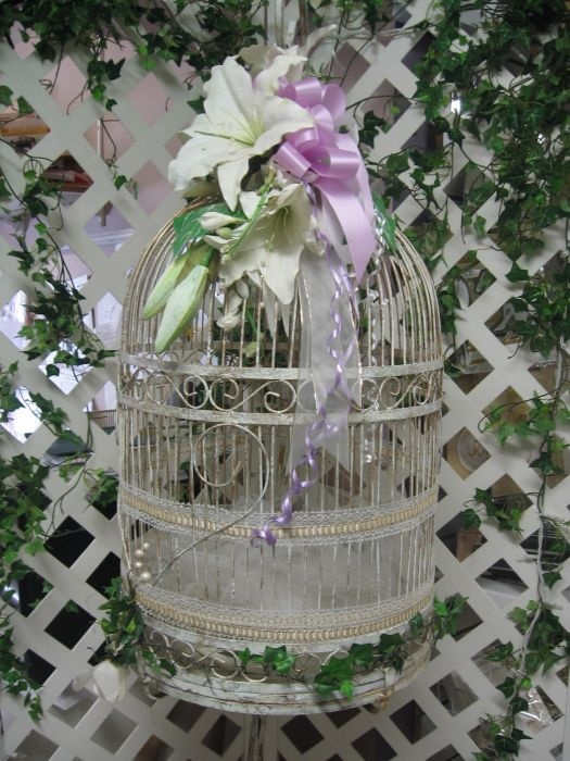 Bird Cage Money Box. Stands on floor 6.5 feet tall.  Perfect when you lack table space for your money box!