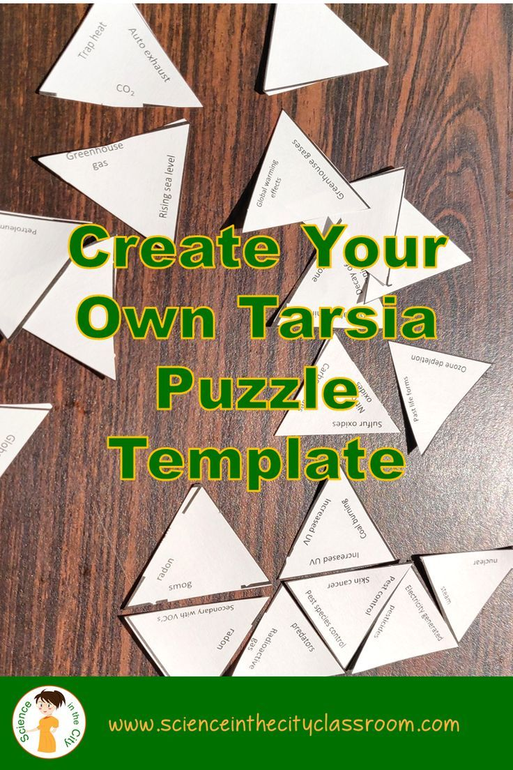 Template For 3 Different Shapes Of Tarsia Puzzles As Well As Tips For Use And Link Science Teaching Resources Fun Classroom Activities Middle School Literacy [ 1104 x 736 Pixel ]