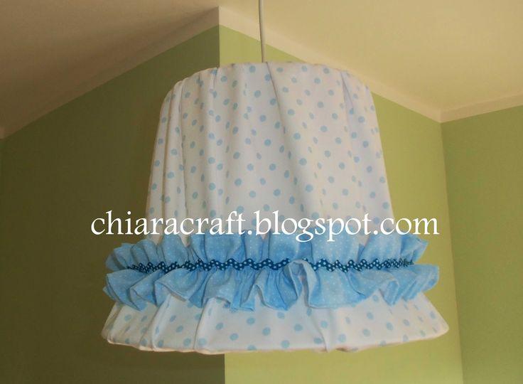 Lampadario di stoffa handmade - Baby fabric chandelier handmade