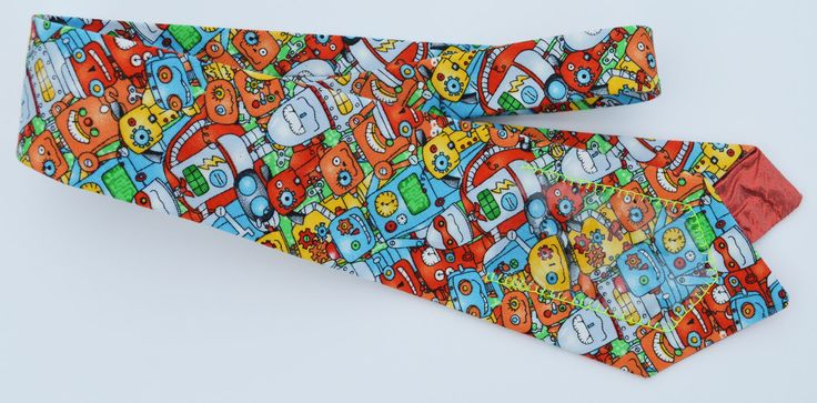 Batteries Not Included I - Women's Neck Tie by OOLLOOnest on Etsy